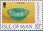 Stamp Postage Stamps Isle of Man 1976 Europa Ceramic Art Strip Fine Mint SG 89 Scott 91