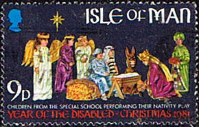 Isle of Man 1981 Christmas International Year for Disabled Persons SG 210 Fine Used