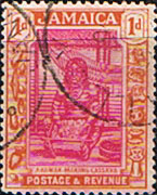 Jamaica 1921 SG  92 Arawak Woman Fine Used