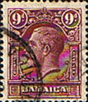 Jamaica 1929 King George V Head SG 110 Fine Used