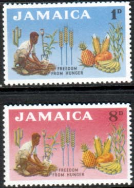 Jamaica Stamps 1963 Freedom From Hunger