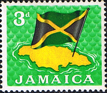 West Indies Stamp Stamps Jamaica 1964 Flag And Map Fine Mint SG 221 Scott