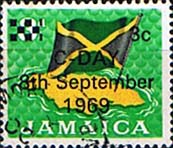 Jamaica 1969 Decimal Currency Overprints SG 282 Fine Used