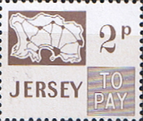 Postage Stamps Jersey 1971 Post Due SG D9 Scott J9 Fine Mint