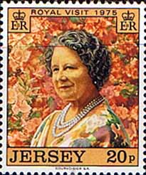Jersey 1975 Royal Visit by Queen Mother Fine Mint