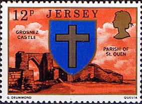 Postage Stamps Stamp Jersey Parish Arms and Views SG 146 Grosnez Castle and St Ouen Fine Min