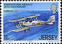 Postage Stamps Jersey 1979 International Air Rally SG 211