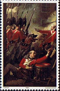 Stamp Postage Stamps Jersey 1981 Battle of Jersey Painting Fine Mint SG 244 Scott 242