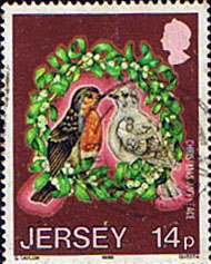 Jersey 1986 Christmas. International Peace Year SG 403 Fine Used