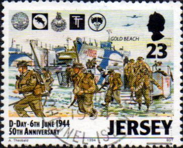 Jersey 1994 Anniversary of D-Day SG 661 Fine Used
