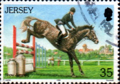 Jersey 1996 Horses SG 761 Fine Used