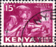 Postage Stamps Kenya 1963 Independence Heavy Industry SG 3 Fine Used Scott 3