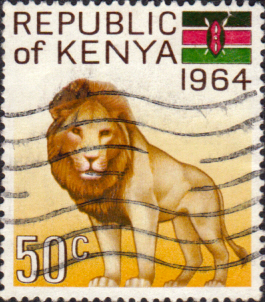 Postage Stamps Kenya 1964 Inauguration Of Republic Lion Sg