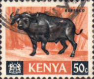 Postage Stamps Kenya 1966 Republic Animals African Buffalo SG 26 Fine Used Scott