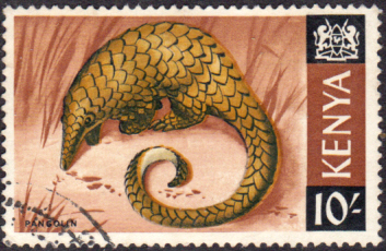 Postage Stamps Kenya 1966 Republic Animals Giant Ground Pangolin SG 34 Fine Used Scott