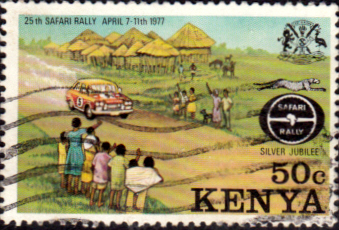 Postage Stamps Kenya 1977 Safari Rally SG 81 Fine Used Scott 76