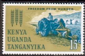 Stamp Postage Stamps Kenya Uganda Taganyika 1963 Freedom from Hunger SG 199 Fine Used Scott 136