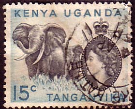Postage Stamps Kenya Uganda Tanganyka 1954 Animals SG 169 Fine Used Scott 105