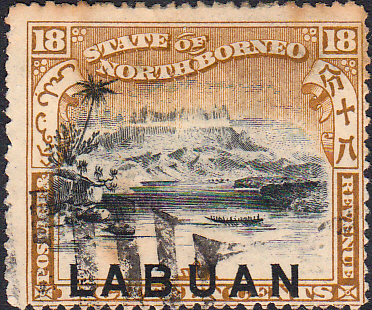 Stamp Stamps North Borneo 1888 Postage and Revenue Good Mint SG 36b Scott 35