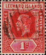 Postage Stamps Leeward Islands 1912 SG 48 King George V Fine Used Scott