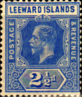 Leeward Islands 1912 SG 46 King George V Fine Used Scott Postage Stamp