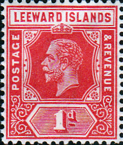 Postage Stamp Leeward Islands 1921 SG 60 King George V Fine Used Scott 63