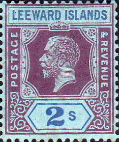 Leeward Islands 1921 SG 71 King George V Fine Mint Scott 74