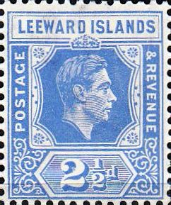 Postage Stamps Leeward Islands 1938 SG 104 King George VI Fine Mint SG 105 Scott 108