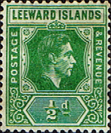 Stamps Stamp Postage Stamps Leeward Islands 1938 SG 99c King George VI Fine Mint SG 96 Scott 104