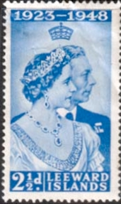 Stamps Leeward Islands King George VI Royal Silver Wedding Set Fine Used