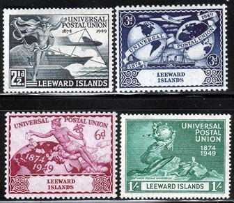 Postage Stamps Leeward Islands 1949 Universal Postal Union Set Fine Mint SG 119-122 Scott 126 - 129