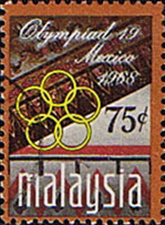 Malaysia 1968 Olympic Games Mexico SG 55 Fine Used