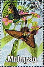 Malaysia 1970 Butterflies SG 67 Fine Used