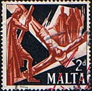 Malta 1967 Martyrdom of Saints Peter and Paul SG 382 Fine Used