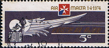 Malta 1974 Air Malta SG 518 Fine Used