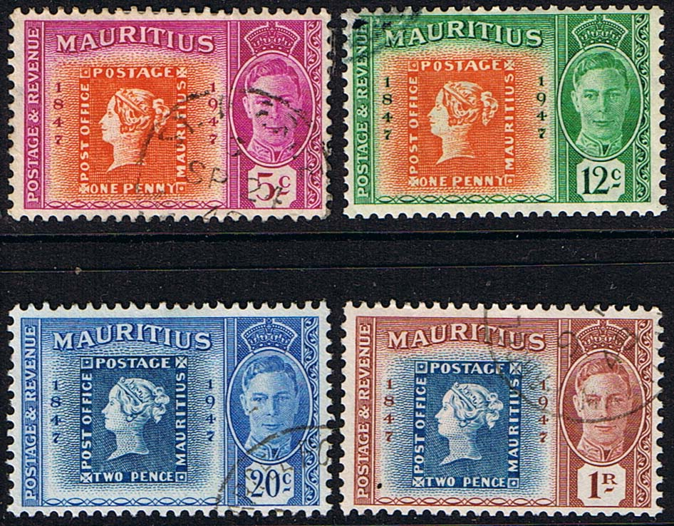 Postage Mauritius 1948 Stamp Centenary Set Stamp on Stamps ...
