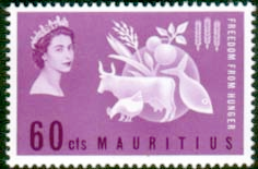 Stamps Mauritius 1963 Freedom From Hunger Fine Mint