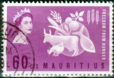 Mauritius 1963 Freedom From Hunger Fine Used
