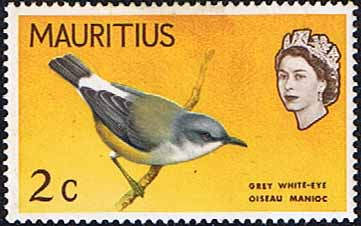 Mauritius 1965 SG 317 Grey White-Eye Bird Fine Mint