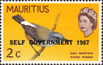 Mauritius 1967 Birds Overprinted Self Government SG 349 Bird Fine Mint