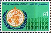 Mauritius 1973 World Health Organisation Fine Mint
