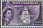Montserrat 1953 Queen Elizabeth II SG 136b Map of the Island Fine Mint