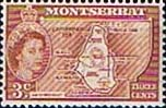 Montserrat 1953 Queen Elizabeth II SG 139 Map of Island Fine Mint