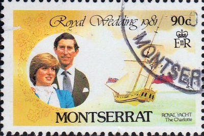 Stamps 1981 Montserrat Charles and Diana Royal Wedding SG 510 Fine Mint Scott 465
