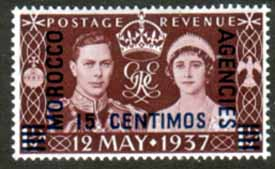 Morocco Agencies 1937 King George VI Coronation Spanish Currency Fine Mint