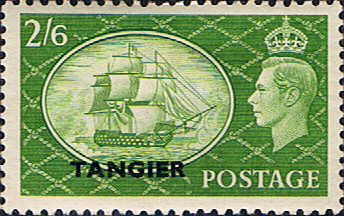 Postage Stamp Stamps Morocco Agencies TANGIER 1950 SG 286 King George VI Fine Mint Scott 556