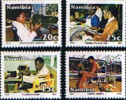 Namibia 1992 Integration of the Disabled Set Fine Mint