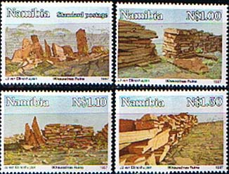 Postage Stamp Stamps Namibia 1997 Khaux nas Ruins Set Fine Mint