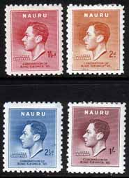 Postage Stamps Nauru 1937 King George VI Coronation