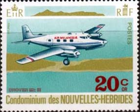 New Hebrides 1972 Aircraft Planes SG F169 French Fine Mint